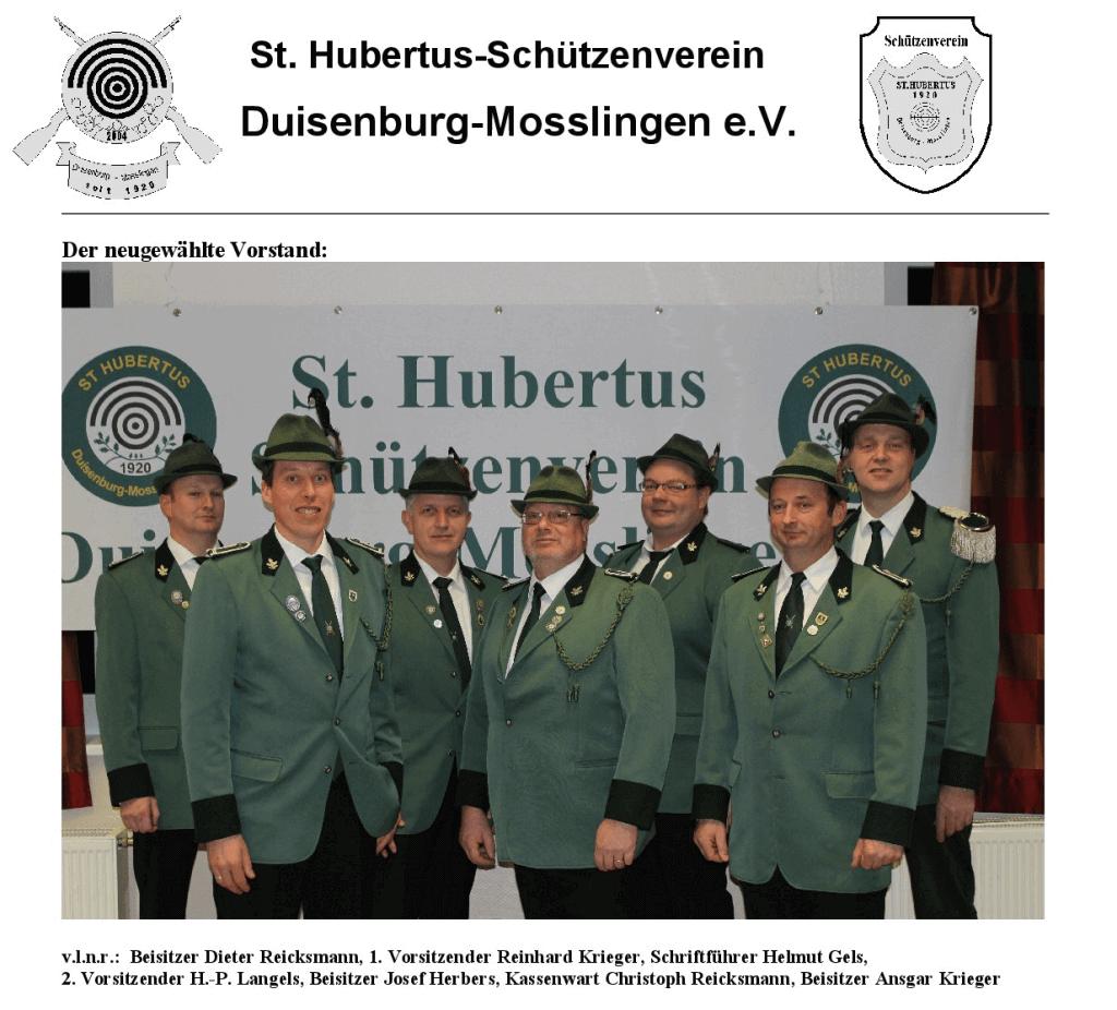 Vorstand Schützenverein 2016