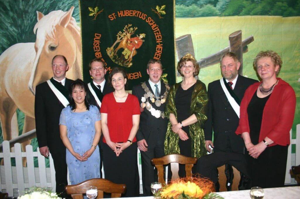 Thron 2005 - König: Ludger Gerling Königin: Dorothe Gerling
