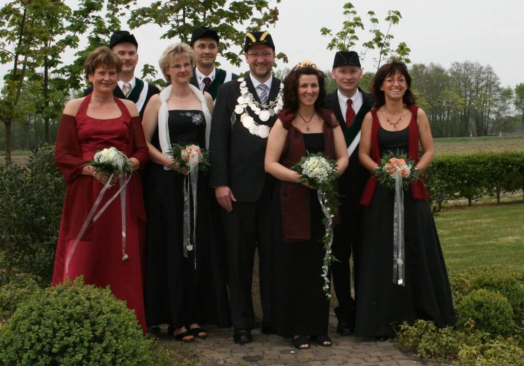 Thron 2007 - König: Franz Hinken Königin: Andrea Deimann