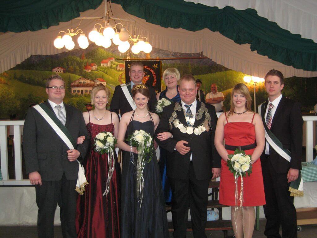 Thron 2011 - König: Johannes Herbers Königin: Christina Gerling
