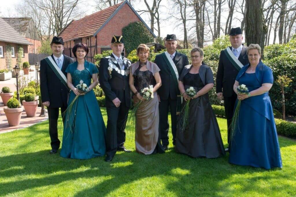 Thron 2012 - König: Helmut Gels Königin: Claudia Gels
