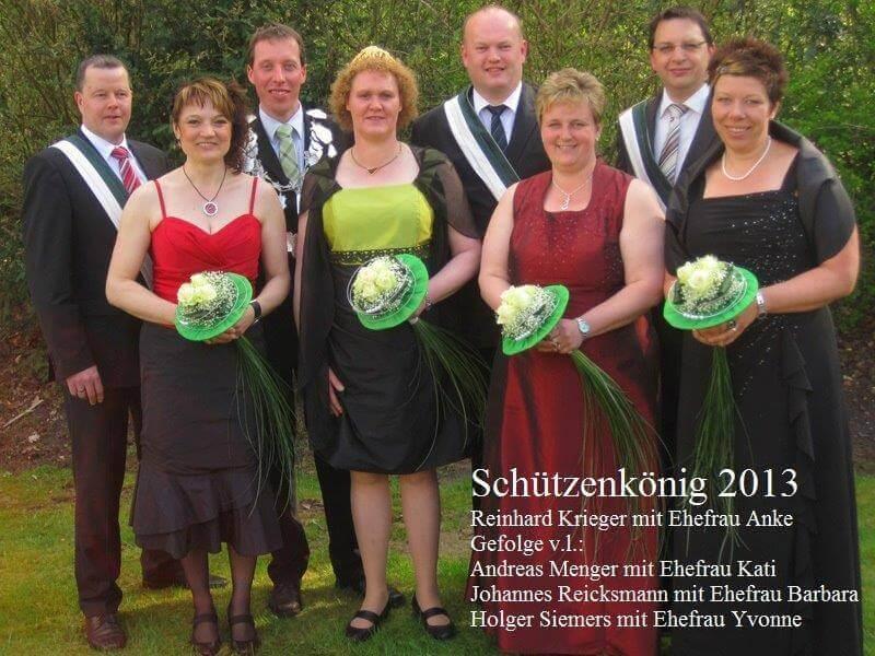 Thron 2013 - König: Reinhard Krieger Königin: Anke Krieger