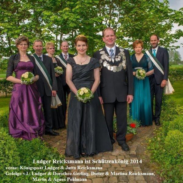 Thron 2014 - König: Ludger Reicksmann Königin: Jutta Reicksmann